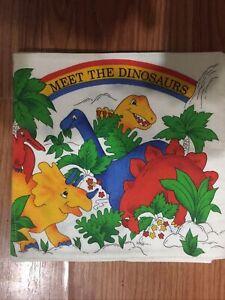 New Handmade/ Home Made Cloth Book Titled Meet The Dinosaurs.