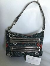 COACH Leather/Fabric Shoulder Bag / Handbag