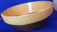 Vintage Antique Brown Stoneware Pottery Cook-Rite Cookin-Ware 8-1/2 inch Baker