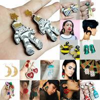 Earrings Jewelry Hook Acrylic Resin Women Boho Geometric Dangle Drop Ear Stud