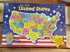 Milton Bradley Map of the United States Puzzle (84 pieces), Used