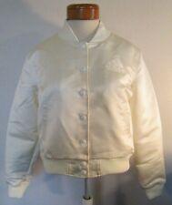 NWT Adidas x Womens Dehen Satin Bomber Jacket M White CK7560 RARE MSRP$250