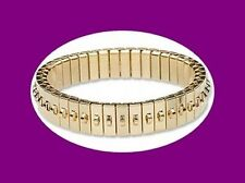 1 each Gold plated Stainless Steel CHA-CHA Stretch Expansion Bracelet 11mm 1 Row