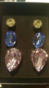 Avon 2012 Honor Society Ladies Set of THREE Bling pierced Earrings NIB