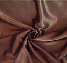 9 Metres Metallic Bronze Faux Silk / Taffeta Curtain & Interior Fabric