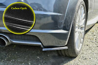 Heckansatz Spoilerecken Seitenteile ABS für Audi TT 8S mit S-Line Carbon Optik