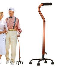 Adjustable Quad Cane Walking Stick Aid Base Mobility Comfortable Grip 500lbs US