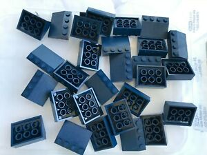 Lego Dark Bluish Grey Slope Inverted 1x3 15 pieces NEW!!!