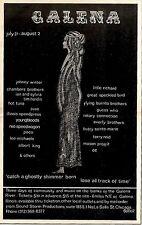RS#63P33 1970 GALENA RIVER FESTIVAL ADVERT 15X10 JOHNNY WINTER LITTLE RICHARD