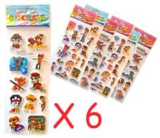 Paw Patrol Sticker Sheet X 6 Lolly Loot Bag Filler Party Favours