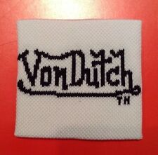 Wristband Sweatband Von Dutch Hip Hop Sport White Unisex Tennis Accessory Aus