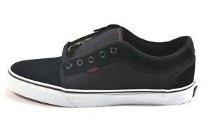 Vans CHUKKA LOW Forever Black Red Skateboarding Discounted (163) Men's Shoes