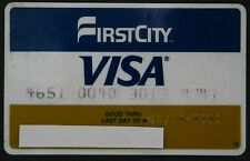 VINTAGE VISA CREDIT CARD – FIRSTCITY BANK HOUSTON, TEXAS – 1985