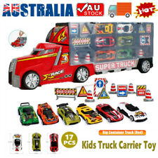 Car Carrier Transport Play Set Vehicle Gift for Kids Boys Toy Truck with 17 Cars