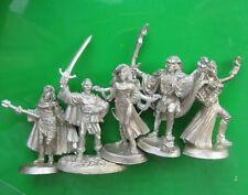 5x 10-551 Menzoberran Drow dark elf Ral Partha minitures elves