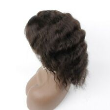 """50% Off! 8"""" #2 Deep Wave 100% Human Hair Gluless Lace Front Wig Hard Lace"""