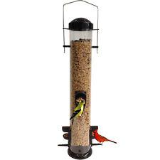 Garden Treasures Black Lightweight Plastic Bird Feeder Garden Hanging Tube New