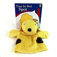 TIME FOR BED SPOT THE DOG Plush Soft Toy Hand Puppet Made By Penguin & Book