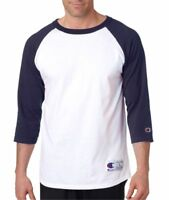 Champion T137 Mens 3/4 Sleeve Raglan Baseball Jersey T-Shirt