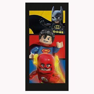 LEGO DC COMICS LARGE TOWEL BATMAN SUPERMAN FLASH SUPERHEROES