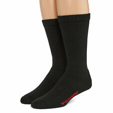 Wolverine Cotton Full Cushion Steel Toe Boot Sock, Large, Black, 2 pair $12.99
