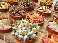 Set of 10 x 10cm Spanish Terracotta Tapas Dishes / Cazuelas tapas pots