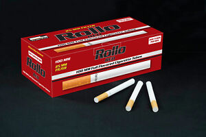 1000 NEW KING SIZE 25mm FILTER RED LIGHTS ROLLO TUBE Cigarrette Tobbacco