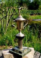 wunderschöner Pokal Siegerpokal 70er Wanderpokal Sportschützen 42 cm Marmor