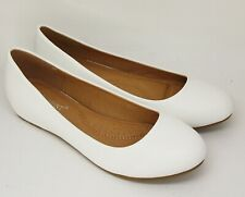 Elegant Court Shoes Ballerina with Small Wedge Heel IN White MM05