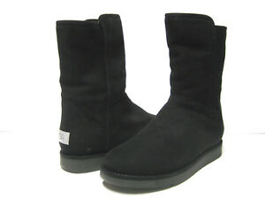 UGG COLLECTION ABREE SUEDE WOMEN SHORT BOOTS BLACK US 9 /UK 7.5 /EU 40
