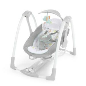 Ingenuity ConvertMe Swing-2-Seat Portable Baby Swing - Gray, NEW IN BOX