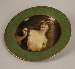 1905 Kemper-Thomas H.D. Beach Co. Vienna Tin Portrait Plate Emile Vernon Artwork