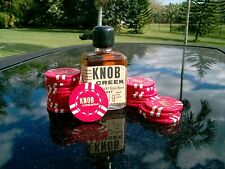 5 KNOB CREEK POKER /CASINO CHIP; RED GAMING TOKEN /CHIP; FIVE (5) CHIPS FOR SALE