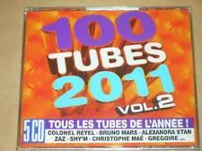 COFFRET 5 CD / 100 TUBES 2011 VOL 2 / NEUF SOUS CELLO