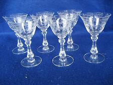 Beautiful Set of 6 Chantilly Cocktail Goblets #3775 Stem