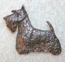 Scottish Terrier Scotty Dog Harris Fine PEWTER PIN Jewelry Art USA Made