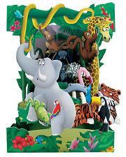 3D Swing Cards by Santoro - JUNGLE ANIMALS - SG-SC-120