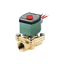 """REDHAT 120VAC Brass Solenoid Valve, Normally Open, 2"""" Pipe Size, Model 8210G103"""