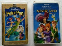 Peter Pan + Return to Neverland Animated Movies Walt Disney VHS Tape Wendy