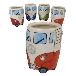 VW Camper Van Ceramic Utensils Jar (Orange)