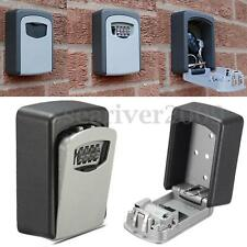 4 Digit Combination Key Safe Security Storage Box Lock Case Boxes Wall Mount