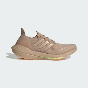 New Adidas Ultraboost 21 FY0391 Beige Running Sneakers Shoes For Women