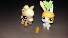 LPS Littlest Pet Shop Horse and Rabbit Complete AS ORIGINALLY SOLD #1605 #1606
