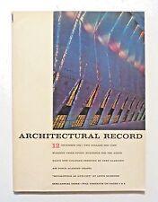 1962 AIR FORCE ACADEMY Chapel SOM Eero SAARINEN Yale ARCHITECTURAL RECORD