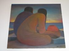 ANTONIO ARROYO PAINTING EXPRESSIONIST MEXICAN INDIAN COASTAL  MODERNIST VINTAGE