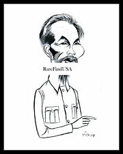 1957-rpt HO CHI MINH Vietnamese Communist Leader caricature by VICKY MATTED