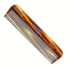 MEN'S 112MM ALL FINE POCKET COMB KENT BRUSHES HANDMADE HAND FINISH HAIR & BEARD