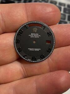 218239 Rolex Day Date Factory Black Arabic Dial