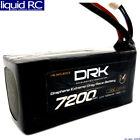 Maclan Racing 6023 DRK 7200mAh 130C 7.6V Graphene Extreme Drag Race Battery w/ X