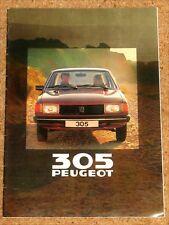 1980 PEUGEOT 305 SALOON Sales Brochure - GL GR GRD SR
